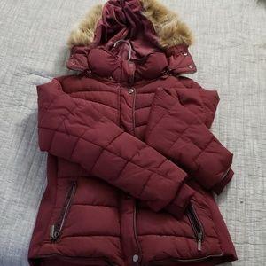 EUC YMI Burgundy Winter Coat(Jacket)